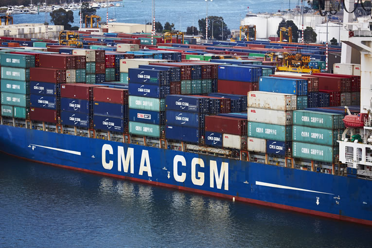 CMA CGM Ship in Melbourne Port