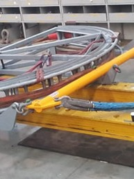 At Boncon Services we can modify all your equipment or lifting gear to our engineer specifications and drawings. As seen above, lifting lugs were required to be added as per new standards to lift 39T of ocean cable.